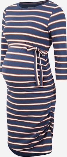 MAMALICIOUS Jurk 'Carmen' in de kleur Donkerblauw / Sinaasappel / Wit, Productweergave