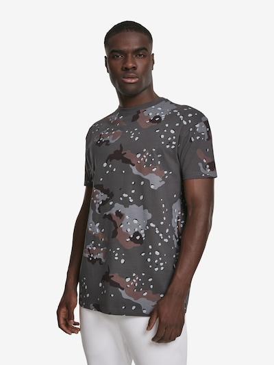 Urban Classics Shirt in braun / dunkelgrau / schwarz: Frontalansicht