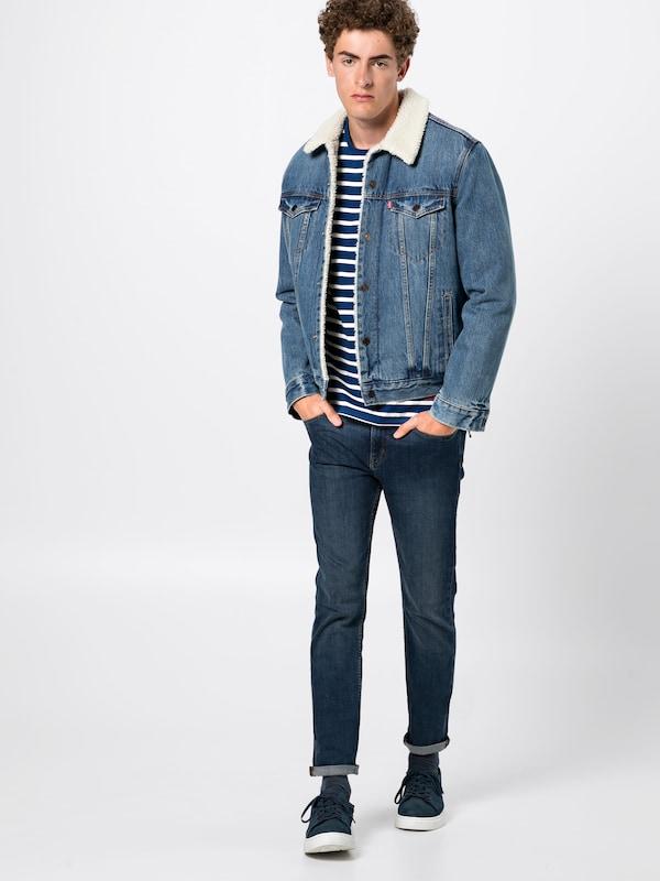 Jeans over En Pepe 'bolly' FoncéBlanc Bleu Pull iTPukXZO