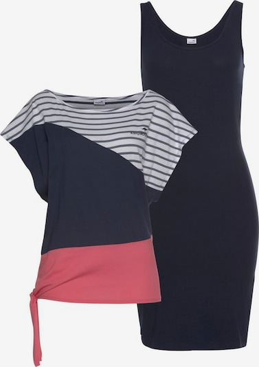 KangaROOS Kleid in blau / koralle / weiß, Produktansicht