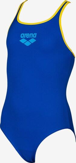 ARENA Badeanzug in blau / hellblau / gelb: Frontalansicht