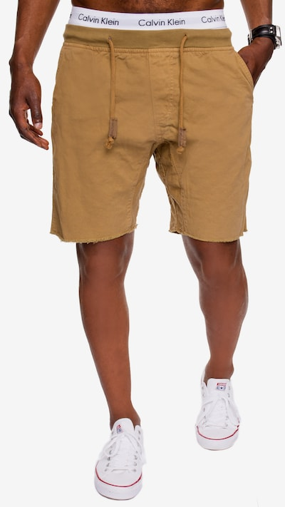 INDICODE JEANS Shorts 'Carver' in sand: Frontalansicht