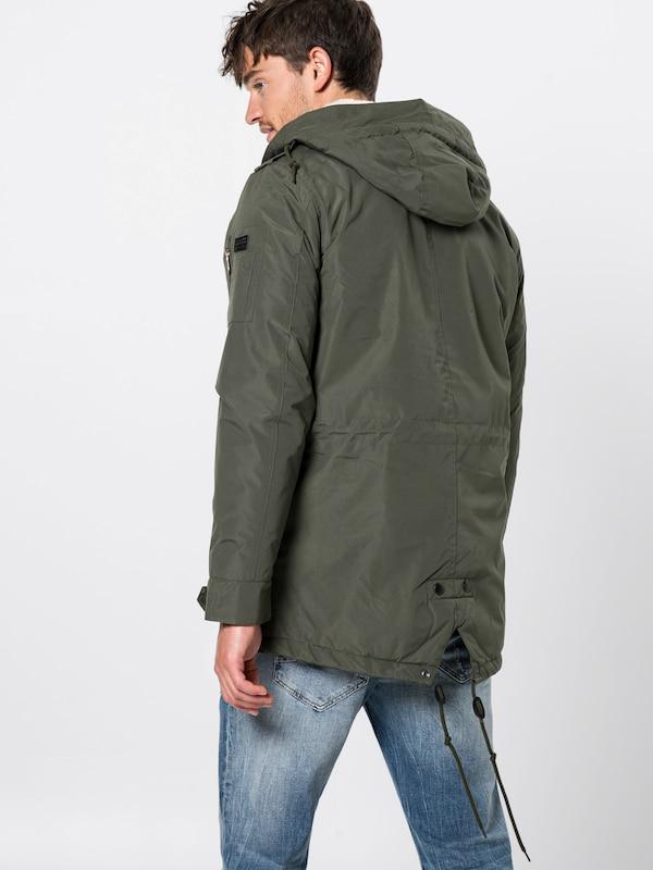 'outerwear' Parka D'hiver Blend En Kaki k8nOPXZw0N