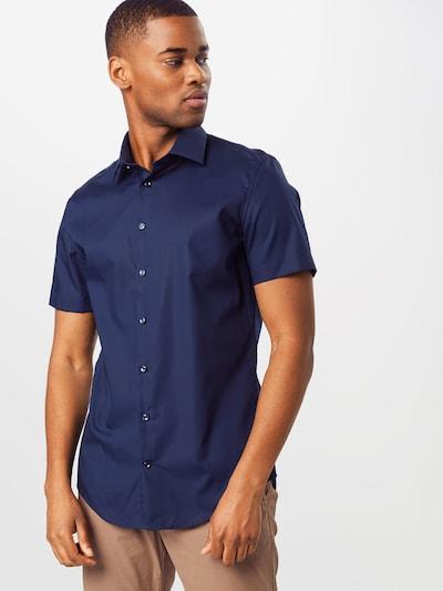 SEIDENSTICKER Hemd in dunkelblau: Frontalansicht