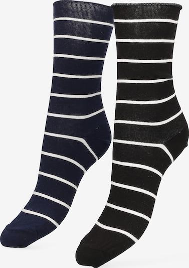 Libertad Socke 'Simple Stripe' in nachtblau / schwarz / weiß, Produktansicht