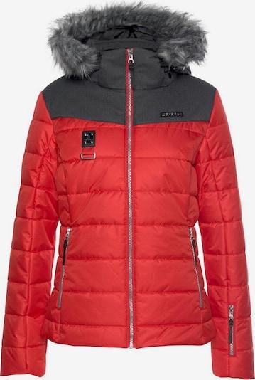ICEPEAK Skijacke 'Pride' in dunkelgrau / rot, Produktansicht