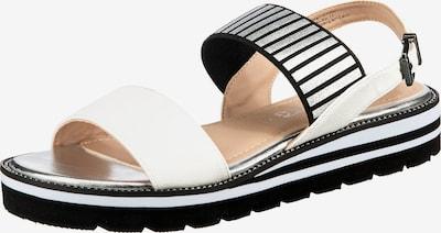 Laufsteg München Sandale in schwarz / silber / weiß, Produktansicht