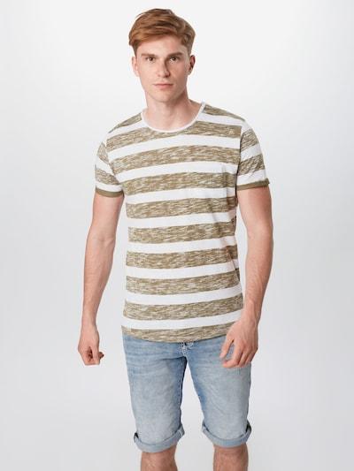 Key Largo T-Shirt 'Airflow' in oliv / weiß: Frontalansicht
