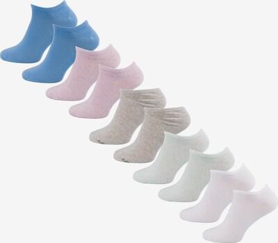 s.Oliver Füßlinge in blau / taupe / pastellgrün / pastellpink / weiß, Produktansicht
