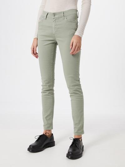 DIESEL Jeans 'D-ROISIN' in hellgrün: Frontalansicht