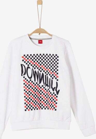 s.Oliver Junior Sweatshirt in rot / schwarz / weiß, Produktansicht