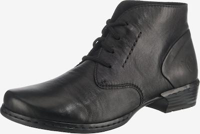 RIEKER Stiefelette in schwarz: Frontalansicht