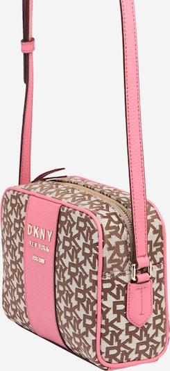 DKNY Tasche 'NOHO - T&C LOGO JACQUARD' in beige / pink, Produktansicht