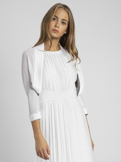 APART Bolero aus Chiffon mit Satin-Einfassung in weiß, Modelansicht