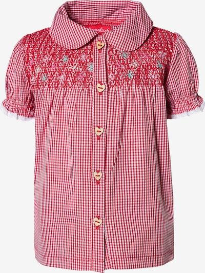 BONDI Bluse in feuerrot / weiß, Produktansicht