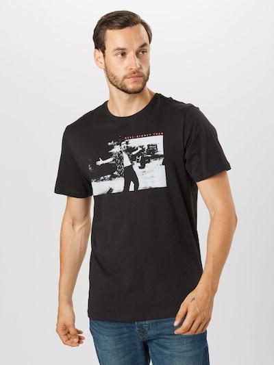 Only & Sons Shirt 'ACEVENTURA' in hellgrau / lachs / schwarz: Frontalansicht