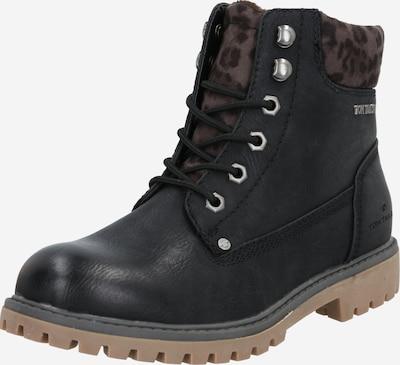 TOM TAILOR Snørestøvletter i brun / mørkebrun / sort, Produktvisning