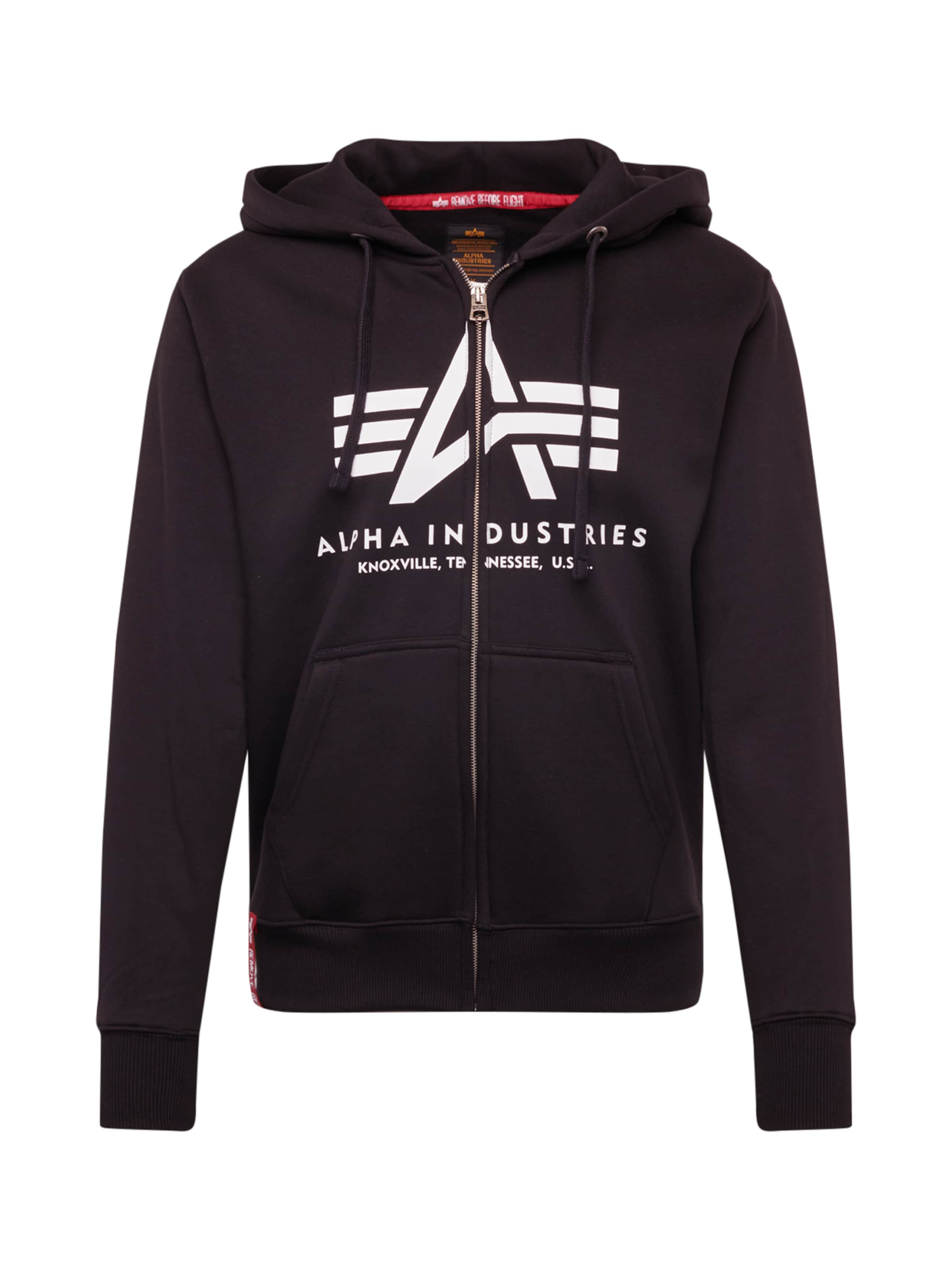 ALPHA INDUSTRIES Sweatshirt 'Basic' i svart