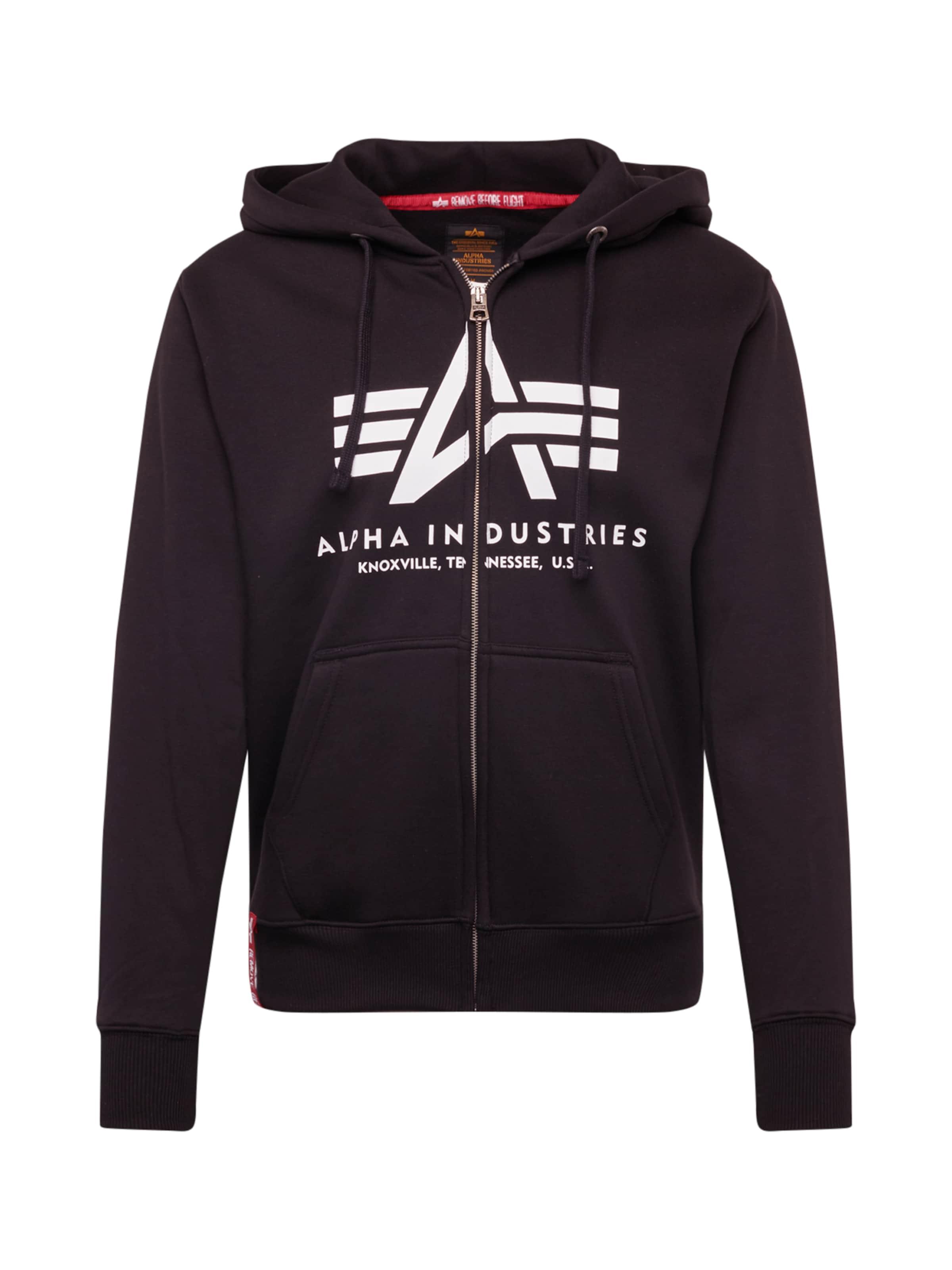 ALPHA INDUSTRIES Sweatshirt 'Basic' i svart