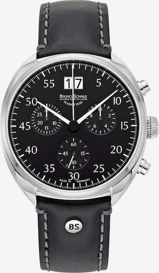 Bruno Söhnle Uhr in schwarz / silber / weiß, Produktansicht