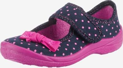 Fischer-Markenschuh Hausschuhe in navy / pink, Produktansicht