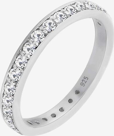 ELLI Ring Bandring 'Kristall' in silber, Produktansicht