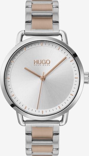 HUGO Uhr in gold / silber: Frontalansicht