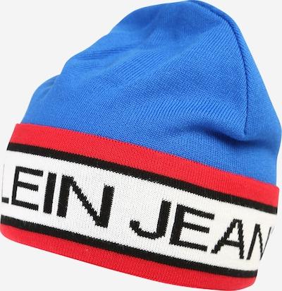 Calvin Klein Jeans Mütze 'PUNK STRIPE' in blau / rot / weiß, Produktansicht
