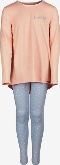 Skiny Schlafanzug Lovely Sleep mit hübschem Muster in hellblau / apricot, Produktansicht