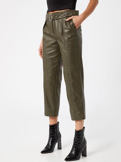 ONLY Plisované nohavice 'ONLSTAN' - olivová: Pohľad spredu