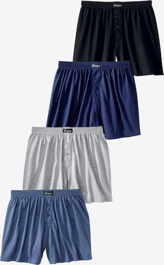LE JOGGER Boxer in marine / navy / grau / schwarz, Produktansicht