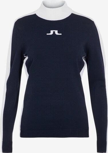 J.Lindeberg Pullover 'Adia' in nachtblau / weiß, Produktansicht