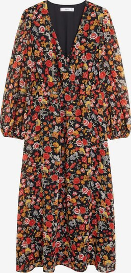 MANGO Kleid 'Winona2' in gelb / pastellgrün / orange / rot / schwarz, Produktansicht