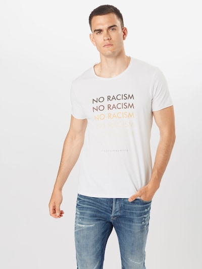 EINSTEIN & NEWTON Tričko 'No Racism' - mix barev / bílá: Pohled zepředu