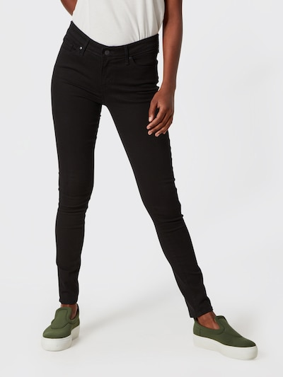 LEVI'S Jeans '711' in black denim, Modelansicht