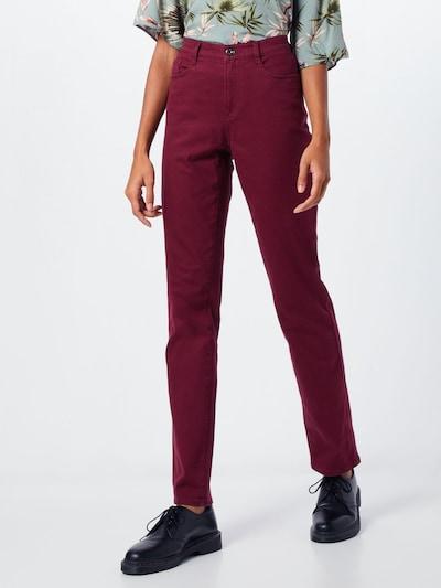 BRAX Jeans 'Carola' in bordeaux, Modelansicht