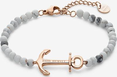 Paul Hewitt Armkette 'Anchor Spirit' in rosegold / hellgrau / perlweiß, Produktansicht