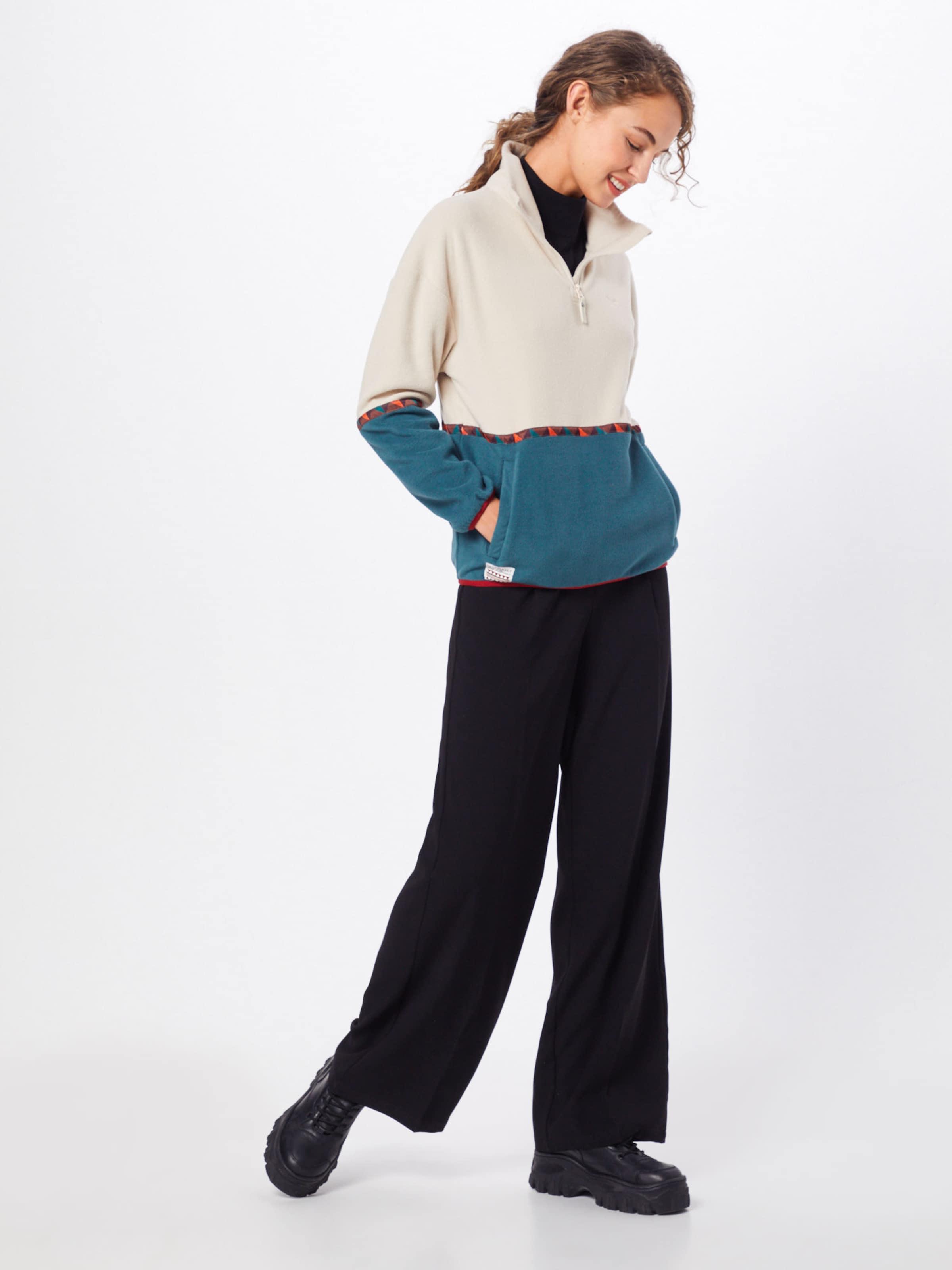 'hopi Sweatshirt Fleece Troyer' PetrolOffwhite In Iriedaily mwN80nv