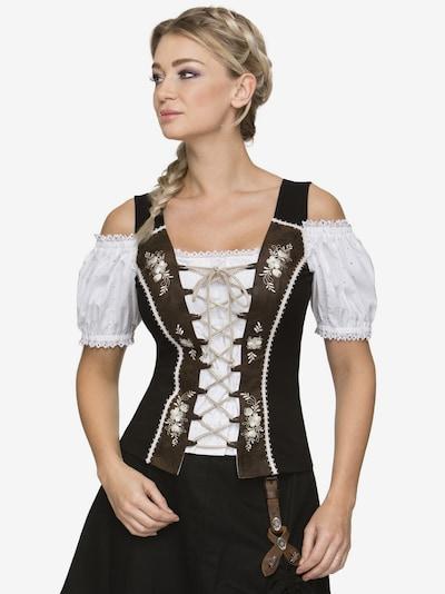 STOCKERPOINT Shirt 'Nella' in braun / schwarz / naturweiß, Modelansicht