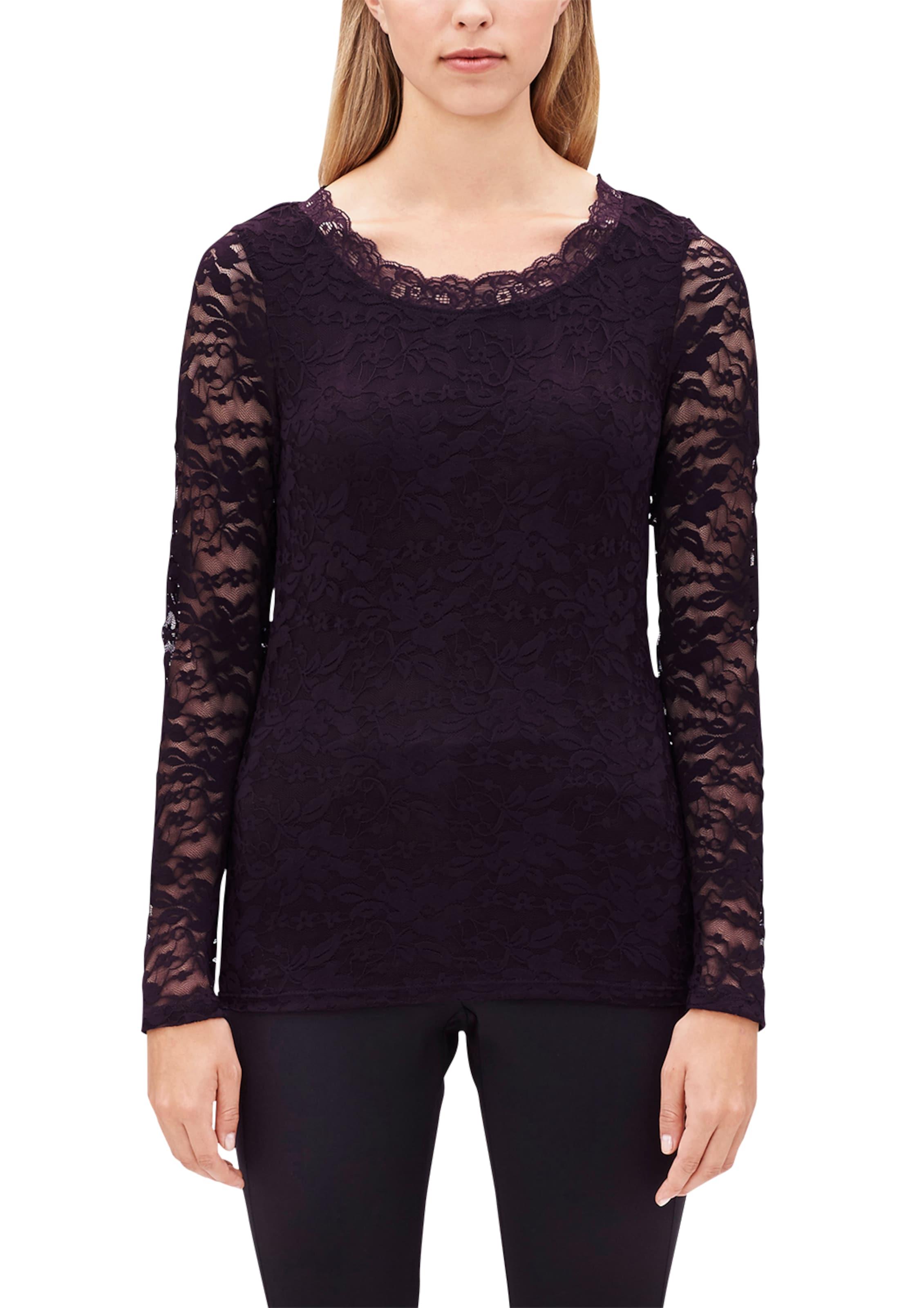 s.Oliver BLACK LABEL Spitzenshirt mit langen Ärmeln Echte Online 100% Authentisch Verkauf Online  Wie Viel Günstig Kaufen jMwUrN