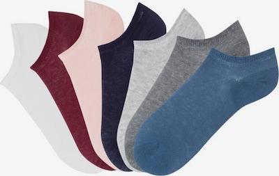 ARIZONA Socken in himmelblau / dunkelgrau / beere / weiß, Produktansicht