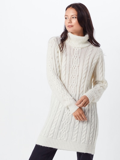 OBJECT Úpletové šaty 'OBJKIARA L/S KNIT DRESS A AU' - bílá, Model/ka