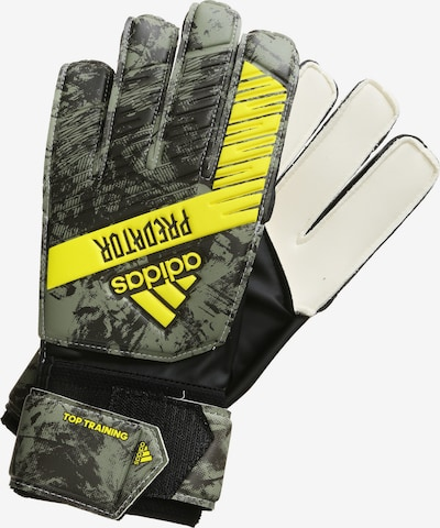 ADIDAS PERFORMANCE Gants de sport 'Predator Top' en jaune / gris chiné / noir / blanc naturel, Vue avec produit