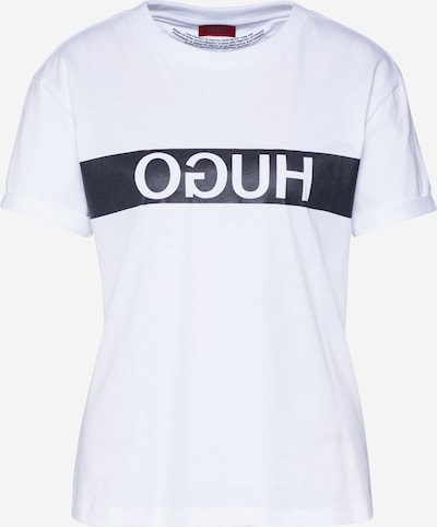 HUGO Shirt 'Datina' in de kleur Zwart / Wit, Productweergave