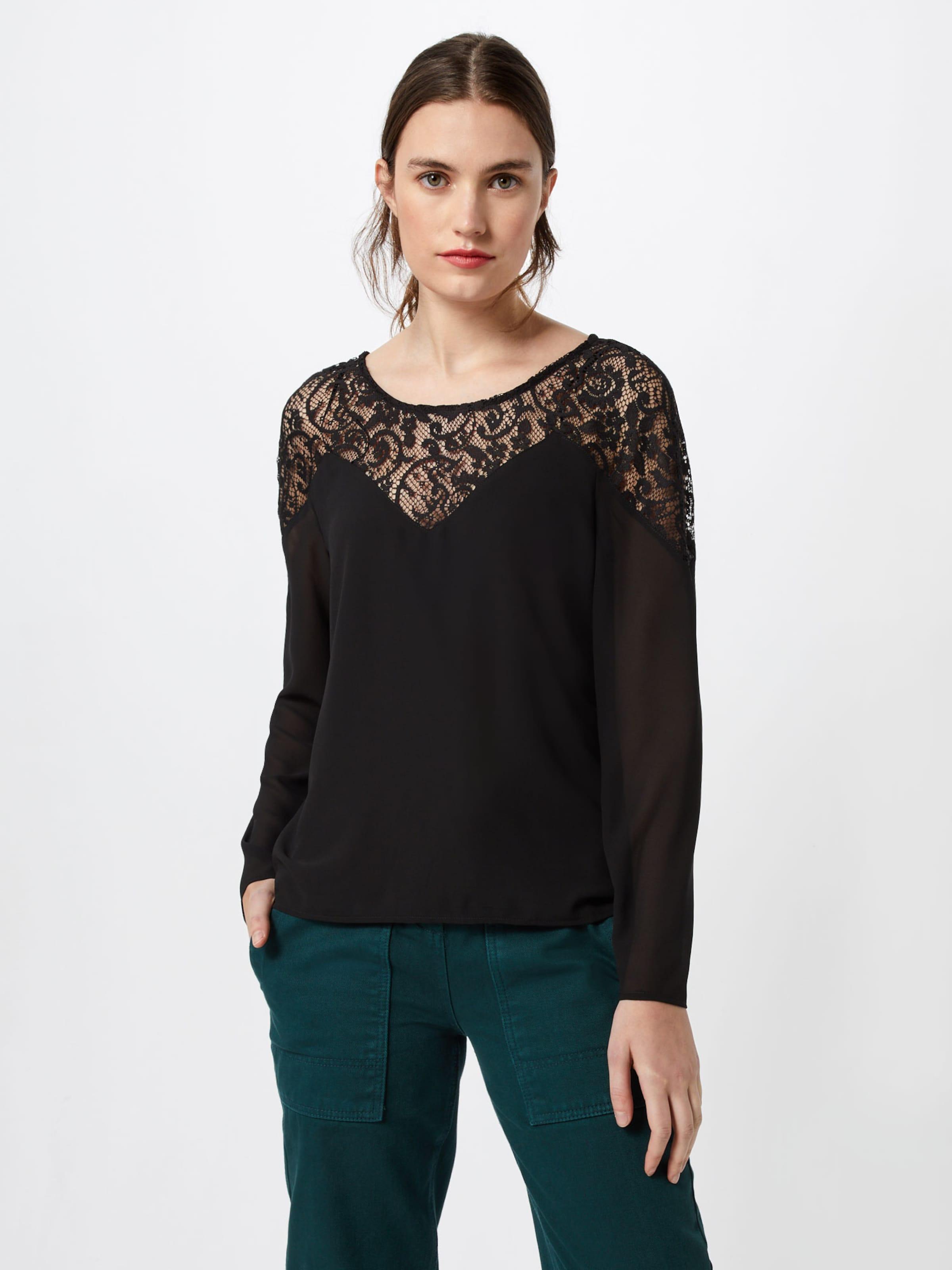 Vila Top' Schwarz Lace L s Shirt 'vibekida In dCsxhtQrB