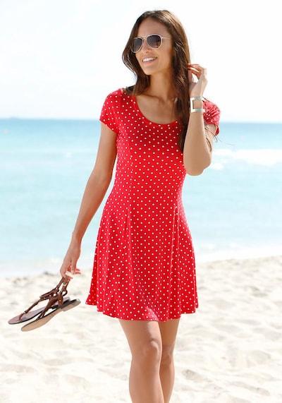 BEACH TIME Strandkleid in rot / weiß, Modelansicht