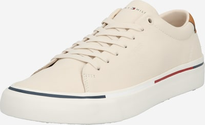 TOMMY HILFIGER Sneakers laag 'Corporate' in de kleur Crème / Navy / Lichtrood, Productweergave