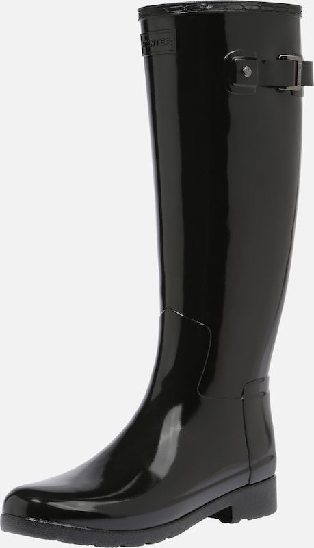 HUNTER Gummistiefel 'ORIGINAL REFINED GLOSS' in schwarz, Produktansicht