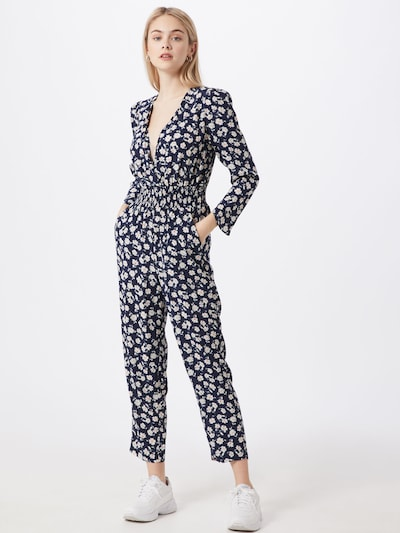 Pepe Jeans Jumpsuit 'MARIA' in nachtblau / weiß, Modelansicht