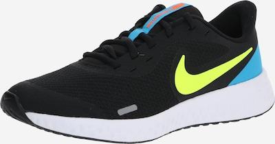 NIKE Sportschuh 'Revolution 5' in blau / neongelb / schwarz, Produktansicht